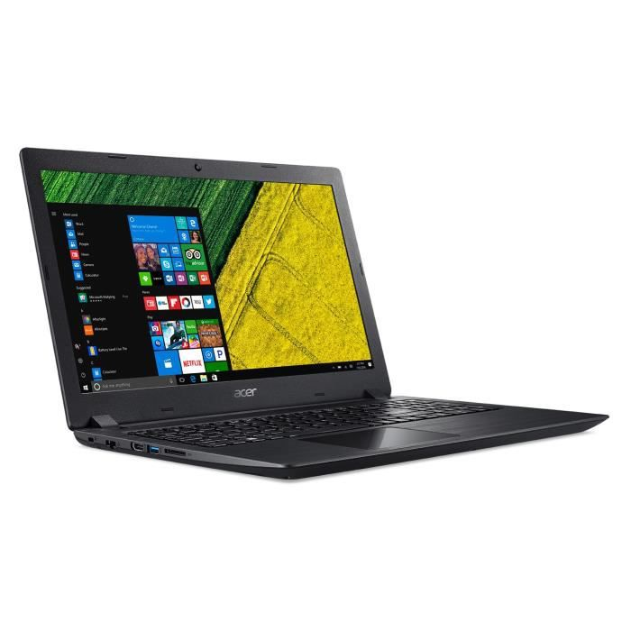 Acer pc portable aspire a315 51 57my 156hd ram 4go intel core i5 7200u stockage 1to intel hd graphics 620