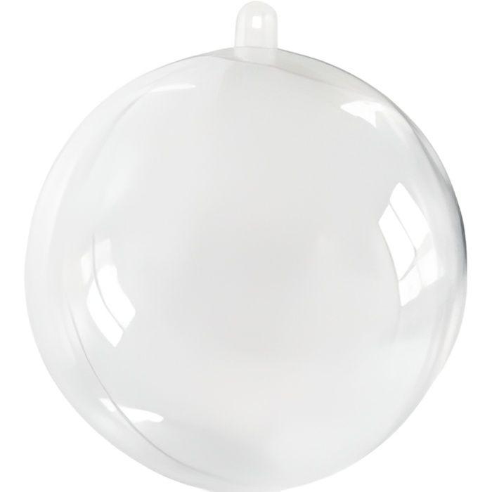 10 Boules Transparentes 8Cm