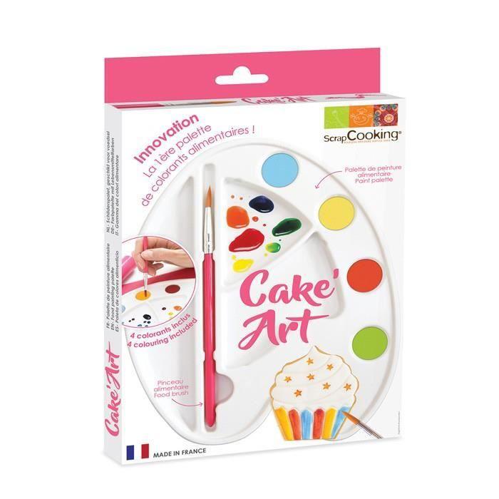 ScrapCooking - Palette de peinture alimentaire - Cake Art
