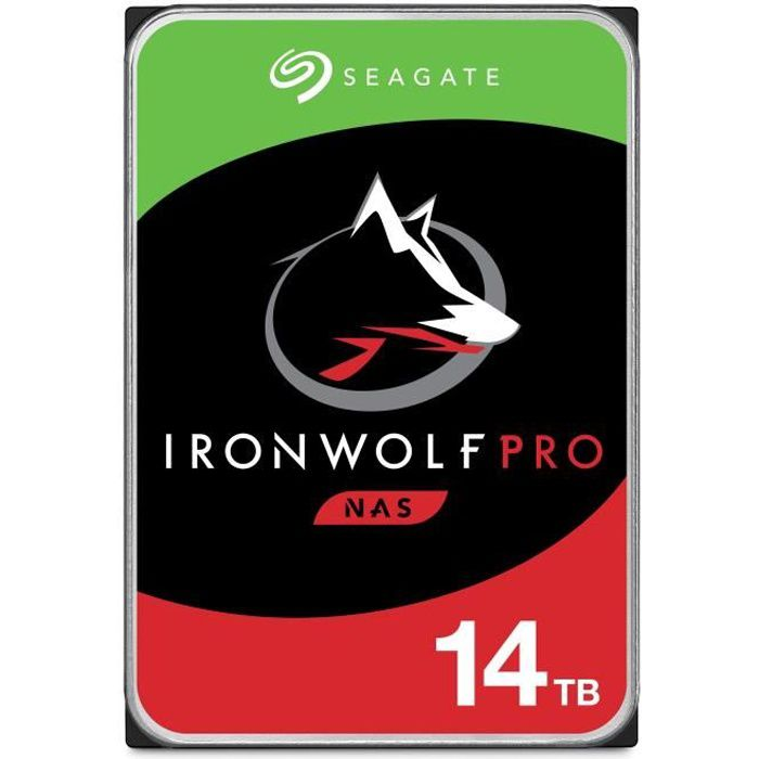 Seagate Disque dur Interne Nas Ironwolf Pro 14To 7 200 tr/min 3.5