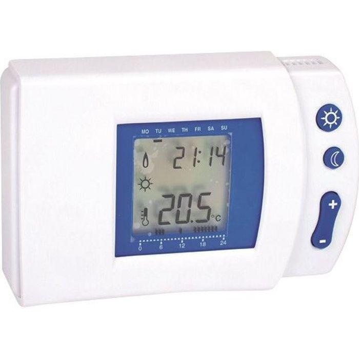 Thermostat électronique digital hebdomadaire