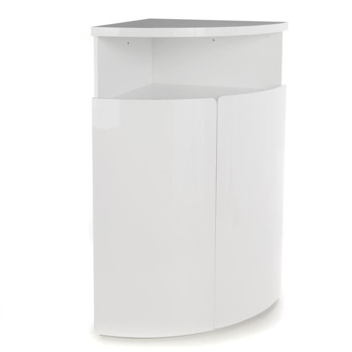 New Corner Buffet D Angle Haut Blanc Laque Achat Vente