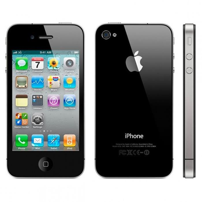 apple iphone 4 s 3 5 32go t l phone d 39 occasion smartphone. Black Bedroom Furniture Sets. Home Design Ideas