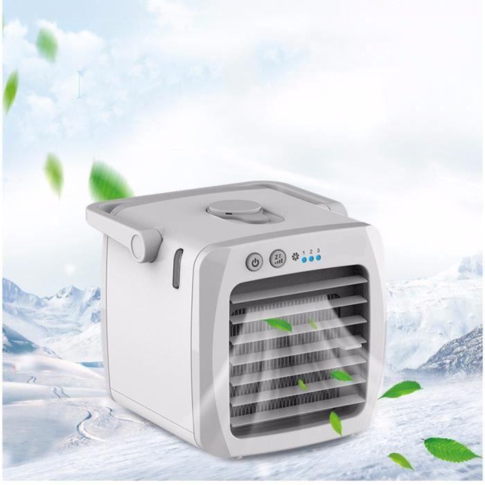 CLIMATISEUR FIXE USB mini portable Climatiseur Humidificateur Air C