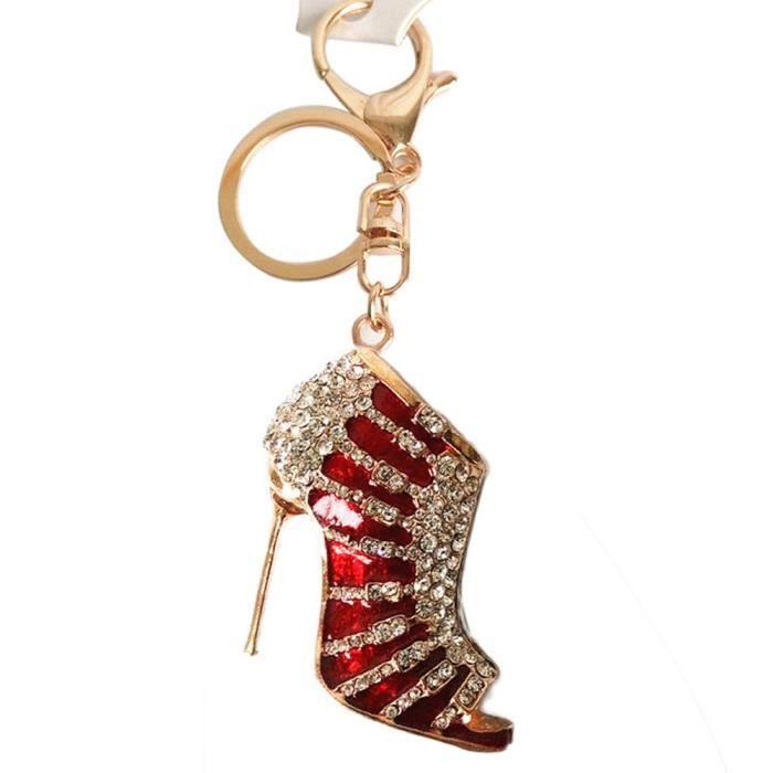 Cristal Talon Haut Keychain Strass Chaussure Sac à main Pendentif Sac Porte-clés voiture porte-clés