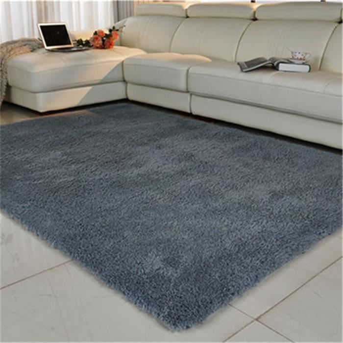tapis shaggy moquette anti d rapage absorbant velours d coration 100cm x 120cm gris argent. Black Bedroom Furniture Sets. Home Design Ideas