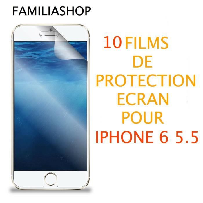 10 films protection cran iphone 6 plus 5 5 achat film protect t l phone pas cher avis et. Black Bedroom Furniture Sets. Home Design Ideas
