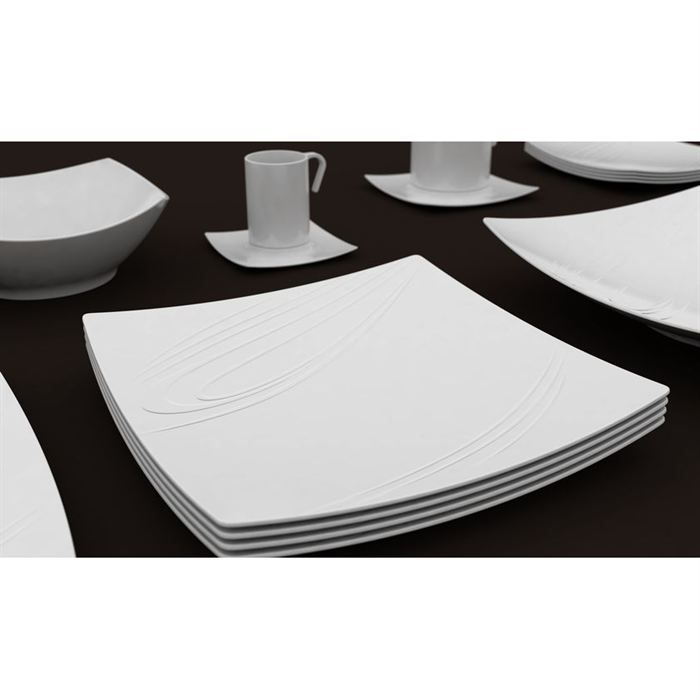 assiette plate 39 kensai 39 26cm x6 achat vente service complet cdiscount. Black Bedroom Furniture Sets. Home Design Ideas