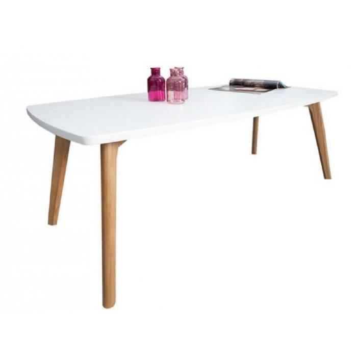 table basse blanche 4 pieds ch ne achat vente table basse table basse blanche 4 pieds. Black Bedroom Furniture Sets. Home Design Ideas