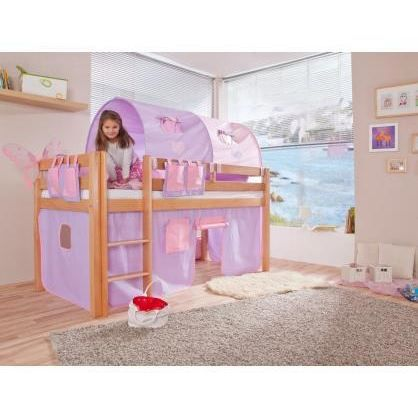 lit sur lev enfant fantaisie naturel achat vente lit complet lit sur lev enfant cdiscount. Black Bedroom Furniture Sets. Home Design Ideas