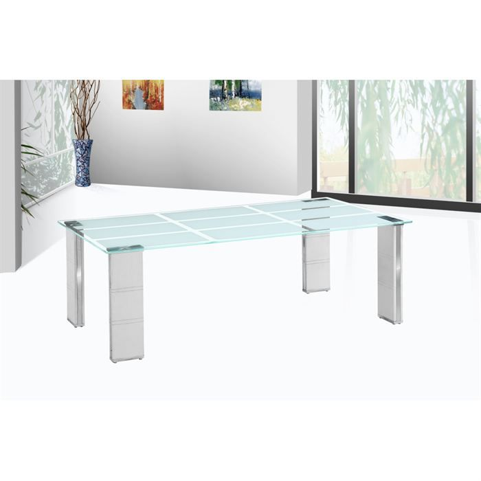 Table Basse Design Polyur Thane Blanc Lina Achat Vente
