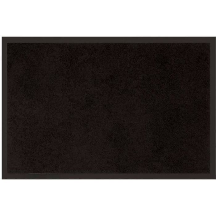 tapis uni anti poussi re 80x120 cm noir achat vente tapis 100 polyester et 100 pvc cdiscount. Black Bedroom Furniture Sets. Home Design Ideas