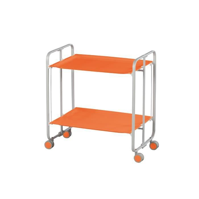 Table roulante pliante gris orange achat vente - Desserte table pliante ...