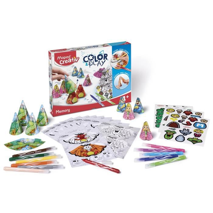 ASSEMBLAGE CONSTRUCTION MAPED CREATIV - Color&Play - Memory à construire