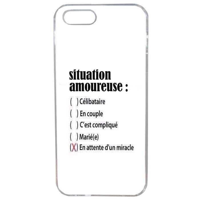 Coque Souple pour Iphone 5 5S SE Humour Celibataire Comique Drole ...