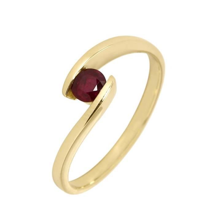 Bague Or 750 Rubis ref 43426