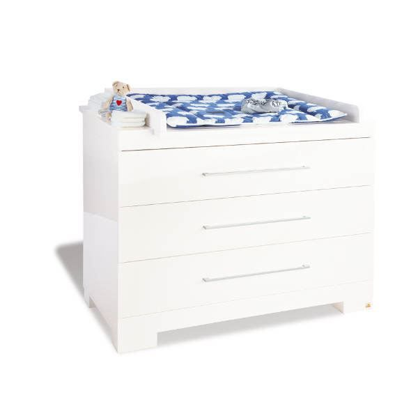 Commode langer extra large cloud laqu blanc bri achat - Commode table a langer bebe kitty blanc ...