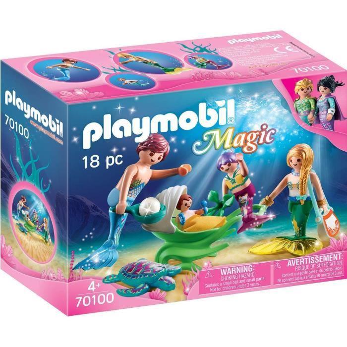UNIVERS MINIATURE PLAYMOBIL 70100 - Magic Les Sirènes - Famille de s