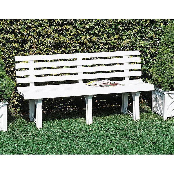 Banc de jardin parc Terrasse ORCHIDEE blanc PVC ...