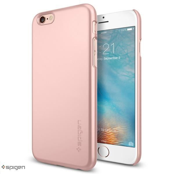 coque thin fit rose gold spigen iphone 6s 6 plus spg11765. Black Bedroom Furniture Sets. Home Design Ideas