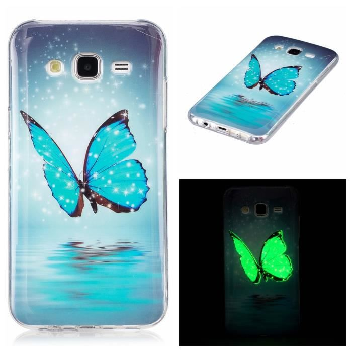 coque pour samsung galaxy j3 2016 cover souple tpu 3d protection silicone noctilucent case. Black Bedroom Furniture Sets. Home Design Ideas