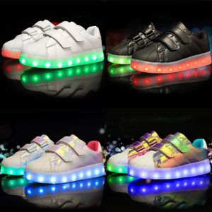 chaussure multisport pour Mixterose rouge 35 7 LED couleur Light Up Chaussures Enfants LED Light Up Chaussures clignot_4326 KFYIPDp