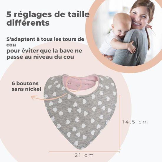 Bébé BANDANA Bavoir Lilas Spots