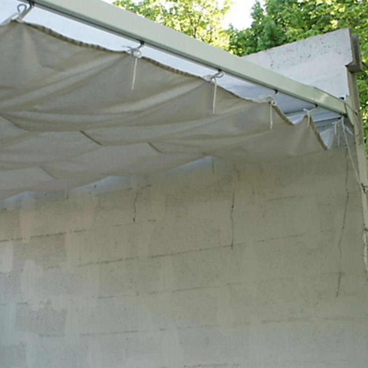 Voile D Ombrage 6 X 4 toile d'ombrage coulissante écru pour toit couv' terrasse 3