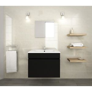 LUNA Ensemble Salle De Bain Simple Vasque L 60 Cm
