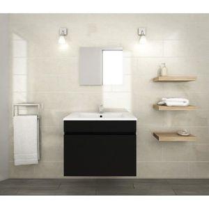 SALLE DE BAIN COMPLETE LUNA Ensemble salle de bain simple vasque L 60 cm