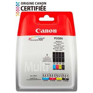 CARTOUCHE IMPRIMANTE Canon cartouches CLI-551 BK/C/M/Y Pack couleurs