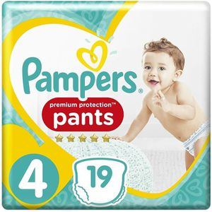 Pampers Premium Active Fit Pants Taille 4 8-14 kg - 19 Couches-Culottes