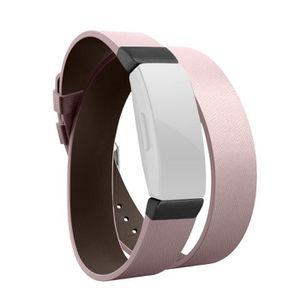 MONTRE Double tour Bracelet en cuir du bracelet montre br