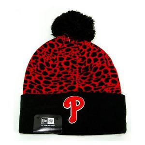 BONNET - CAGOULE Bonnet Pompon New Era Philadelphie Phillies Noi...