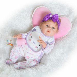 POUPÉE 58CM corps entier silicone reborn poupées bébés Fi