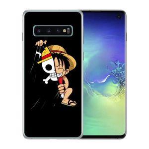 Coque pour Samsung Galaxy A50 Manga One Piece tete de mort taille unique