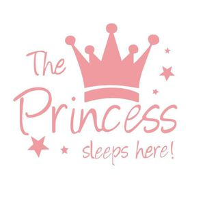 STICKERS ROSE Taille L - Sticker Mural The Princess sleeps