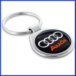 3181500400 Genuine Audi Rings Keyring Silver