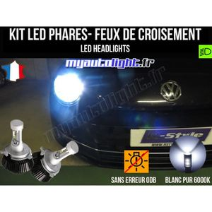 PHARES - OPTIQUES Kit Ampoules de phares à LED H4 Haute Performance