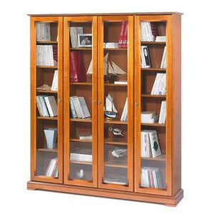 Biblioth que vitr e achat vente biblioth que vitr e for Meuble tv xxl style louis philippe en pin