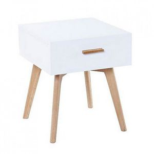 Table de chevet chene blanc achat vente table de - Table de chevet en chene ...