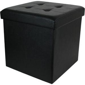 POUF - POIRE Coffre pouf de rangement pliable - 38x38x38 cm en