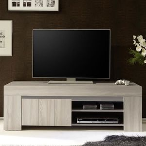 MEUBLE TV Petit meuble tv moderne couleur bois gris MURANO