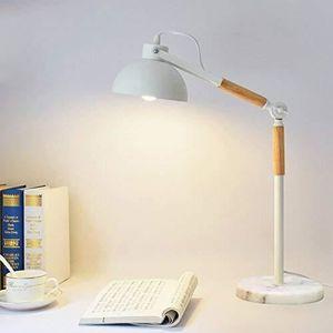 LAMPADAIRE Lampe de Bureau Articulée Design Bois Métal Marbre