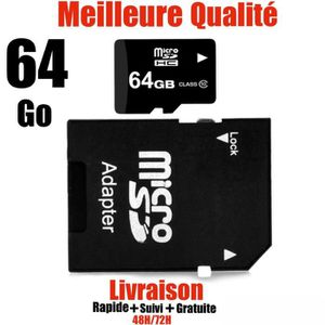 CARTE MÉMOIRE Carte mémoire micro SD 64 GO SDHC performance Clas