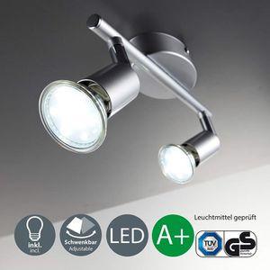Licht plafonnier LED 2 spots orientables luminaire salle de ...
