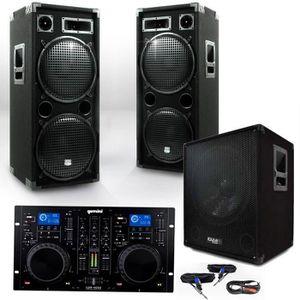 PACK SONO Pack 15215 Sonorisation 2800W Caisson bi-amplifié