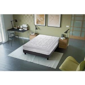 ensemble matelas sommier 140x190 avec tete de lit achat vente ensemble matelas sommier. Black Bedroom Furniture Sets. Home Design Ideas