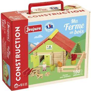 ASSEMBLAGE CONSTRUCTION JEUJURA Ferme avec animaux -  100 pièces-, 8050, M