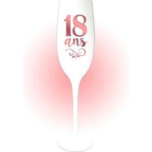Les Tr/ésors De Lily N4101 - Coupe Flute /à Champagne 40 Ans Rose
